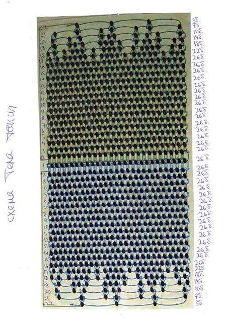 Схема плетения туловища таксы