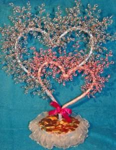 как сделать сердце из бисера