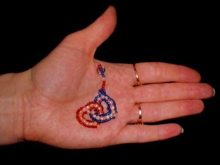сердце из бисера схема плетения