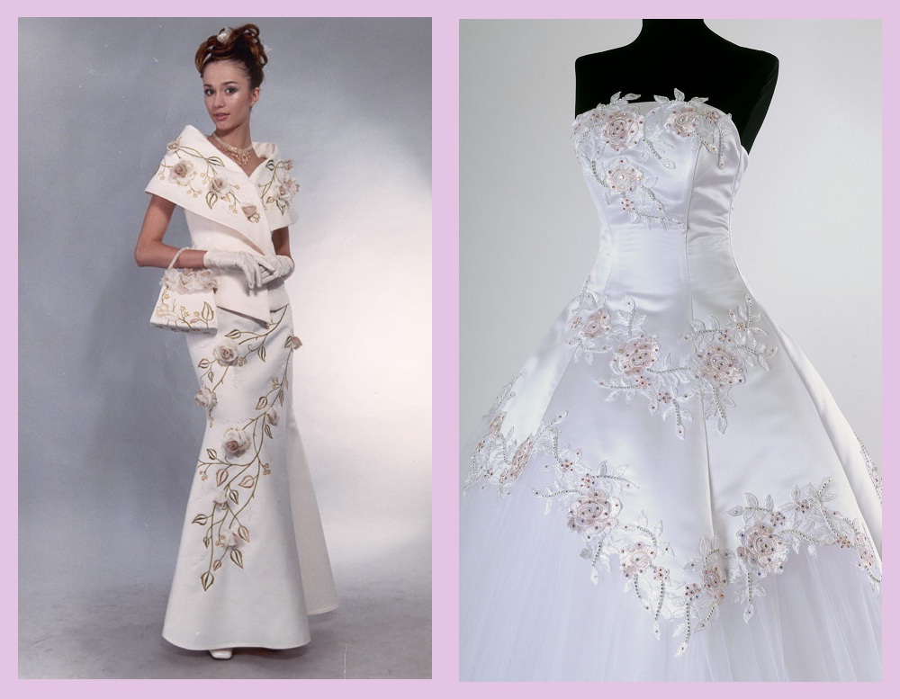 вышивка бисером на платье