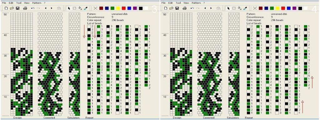 Схема плетения жгута из бисера