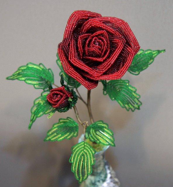 цветы из бисера цветы из