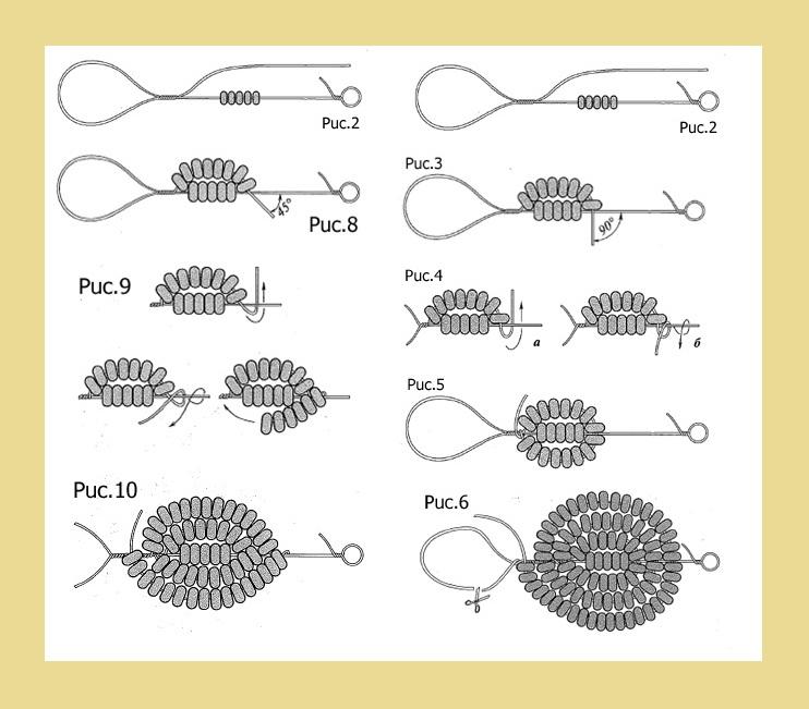 Французская техника плетения цветов - Бисероплетение - Виртуальный.